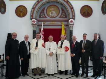 Delegation with Msgr. Giacinto-Boulos Marcuzzo